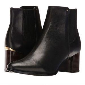 Calvin Klein felda black ankle booties size 8